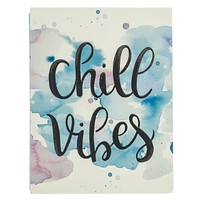 Chill Vibes Pocket Notepad in Blue and Purple Watercolor