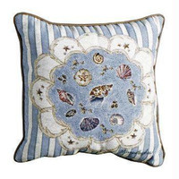 Seashells Throw Pillow - One Side Design
