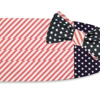 Stars & Stripes Cummerbund Set by High Cotton