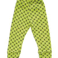 Nununu Mini Skull Legging in Neon Yellow - NU0522