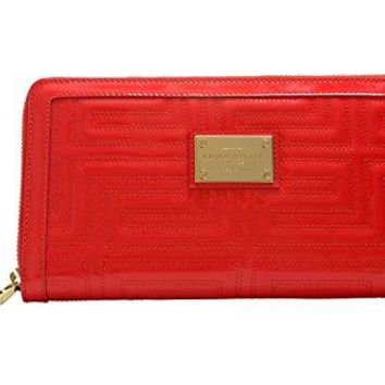 Gianni Versace Leather Red Women's Clutch Bag