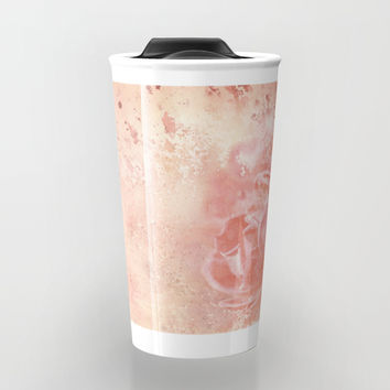 Rose Colored Splashes Travel Mug by Theresa Campbell D'August Art