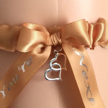Gold You're Next Wedding Garter, Choose Your Color, Bridal Garter, Prom Garter, Weddings, Custom Weddings, Tossing Garter