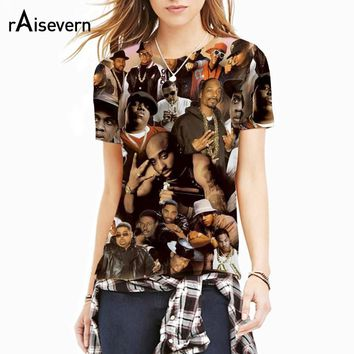 Raisevern New Fashion T Shirt 3D Print Legends Of Hip Hop 2pac Tupac/biggie Smalls/snoop Dogg Tee Shirt Hip-hop Tops