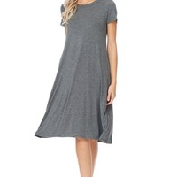 Always Ready Charcoal Dress