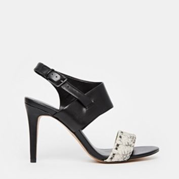 ALDO Etung Faux Snakeskin Leather Heeled Strap Sandals