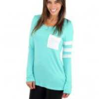 Mint Top With Pocket