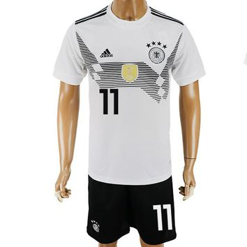2018 World Cup Germany Team Football Clothes Football Shirt Football Jersey Soccer Jersey Soccer Uniform (2 Piece)