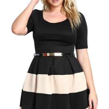 Carolina Plus Size Skater Dress