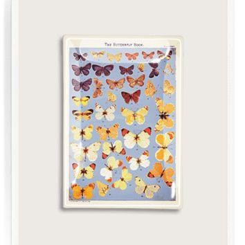 The Butterfly Book Decoupage Glass Tray