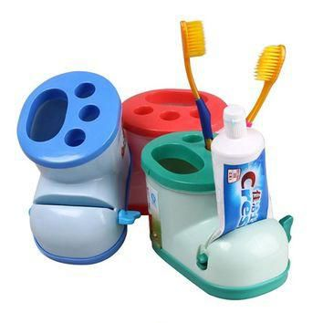 Multifunctional Boots Toothbrush Holder with Toothpaste Squeezer For Bathroom Products