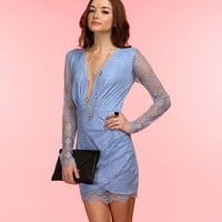 Sale-my My Baby Blue Lace Dress