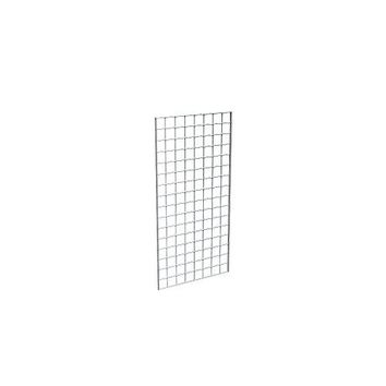 Econoco Commercial Grid Panels, 2' Width x 4'Height, Black (Pack of 3)