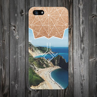 Sunny Island Coast x Gold Glitter Geometric Phone Case for iPhone 6 6 Plus iPhone 5 5s 5c 4 4s Samsung Galaxy s6 s5 s4 and Note 5 4