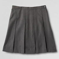 School Uniform Girls' Box Pleat Skirt (Below The Knee) from Lands' End