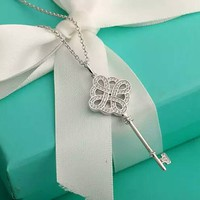 Tiffany & Co. Chinese knot diamond Key necklace