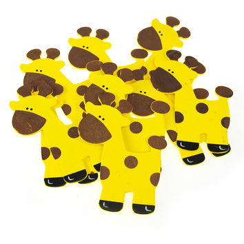 Animal Wooden Baby Favors, 5-inch, 10-Piece, Giraffe