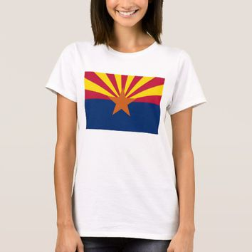 Women T Shirt with Flag of Arizona State