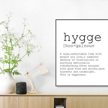 Hygge definition, romantic, dictionary art print, office decor,definition poster, quotes, minimalist poster, funny definition print