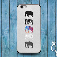 Cute African Elephant Silhouette Cool Cover Case iPod iPhone 4 4s 5 5s 5c 6 6s +