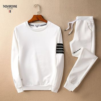 Boys & Men Thom Browne Top Sweater Pullover Pants Trousers Set Two-Piece Sportswear