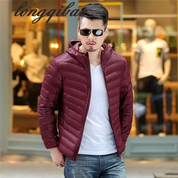 Genuine thin down jacket men 's lovers fall and winter in the elderly ultra - lightweight down jacket
