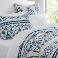 Lori Paisley Whole Cloth Quilt & Sham