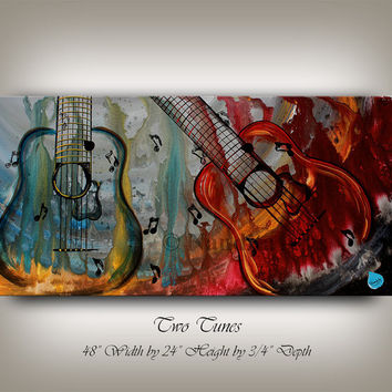 "Music Art ""Forming Sound"" GUITAR MUSIC ART Painting Original Guitar Abstract Paintings Online Guitar Fine Art Gallery Artwork on Canvas."