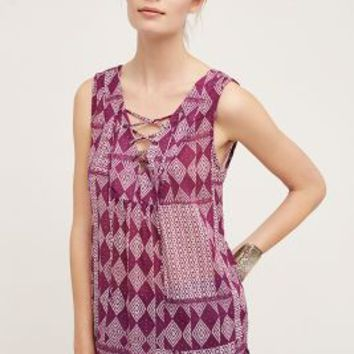 Velvet by Graham and Spencer Saba Tunic in Purple Motif Size: