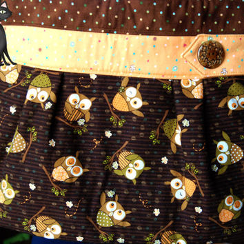 Purse with adorable Brown and Orange by KraftyKreations4You