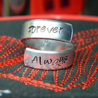 Forever & Always aluminum ring 1/4 inch