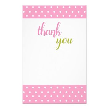 Pink Polka Dots Stationery