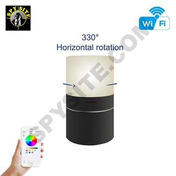 Wifi Desktop LED Lamp Rotating Hidden Camera & DVR - Wireless Hidden Camera