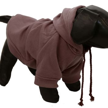 Fashion Plush Cotton Pet Pet Hoodie Hooded Sweater  - Cocoa Brown