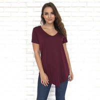 Tie Me Up Tunic Top In Burgundy