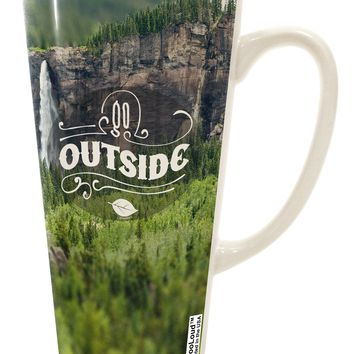 Beautiful Cliffs - Go Outside AOP 16 Ounce Conical Latte Coffee Mug All Over Print by TooLoud