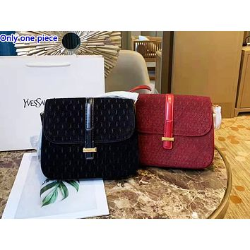 YSL hot selling fashionable lady's single shoulder bag shopping bag with full printing in pure color