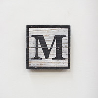 Painted Wooden Sign - M