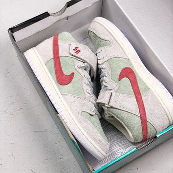 Nike SB Dunk Mid Pro QS Todd Bratrud White Widow Grey Men Shoes AQ2207-163  Basketball Sneaker