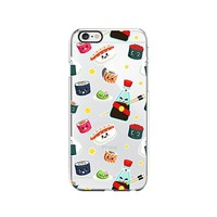 Cute Sushi Pattern Transparent Silicone Plastic Phone Case for iphone 7/8 _ LOKIshop (iphone 7/8)
