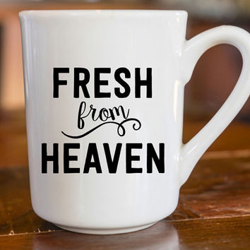Fresh From Heaven Decal   Sassy Girl   Prepster Decal   Preppy Decal   Sassy Decal   Yeti Decal   iPhone Decal   MacBook Decal    227