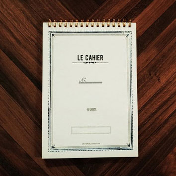 Le cahier frame A5 size spiral center lined notebook