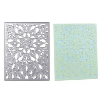 109x140mm Cutting Dies Hallow Flower Metal Scrapbooking Embossing Stencil Craft For DIY Invitation Cards Album Book Decoration