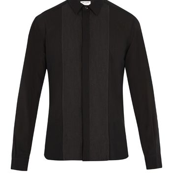 Contrast-panel wool shirt | Saint Laurent | MATCHESFASHION.COM UK