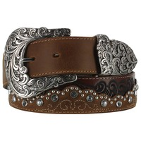 Tony Lama Women's Kaitlyn Crystal Western Belt
