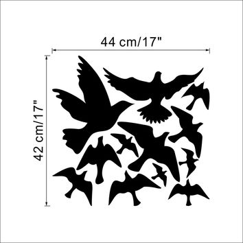 hot selling Pretty Geese Ducks Birds flying Wall Art Vinyl Decoration Removable Sticker decals 8501  SM6