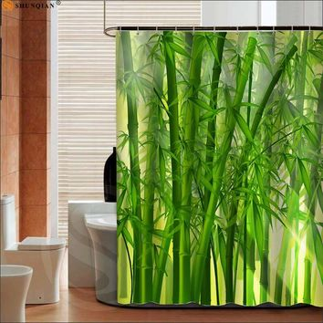 Bamboos Pattern Shower Curtain