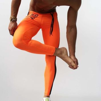 5 colors Men's Training Pant Spandex Tights  Joggers Leggings Pants Low-waist Elastic Sports fitness Skinny  yoga Pants Running