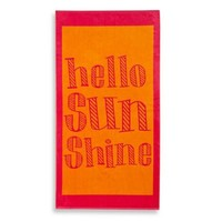Hello Sunshine Jacquard Beach Towel