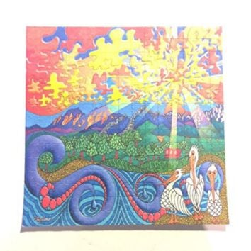 Psychedelic Blotter Art Print perforated sheet 15x15 - Pelican Design